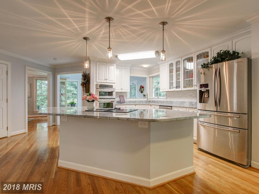 Gourmet kitchen with large island.