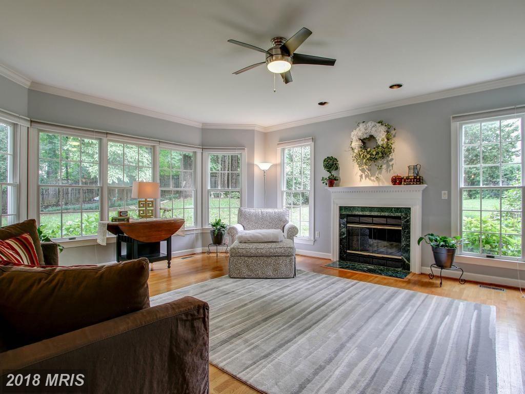 Light-filled living room with huge windows.